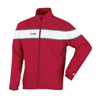 Jako Pr�sentationsjacke Player Damen rot/wei� 9868