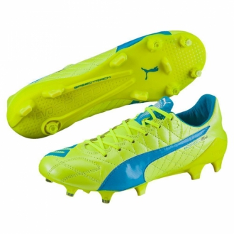 Puma evoSPEED SL Leather FG Fu�ballschuh gelb