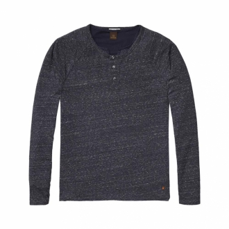 Scotch & Soda 2-in-1-Longsleeve Herren dunkelblau