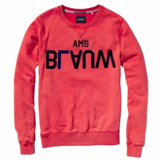 Scotch & Soda Amsterdams Blauw Sweater rot