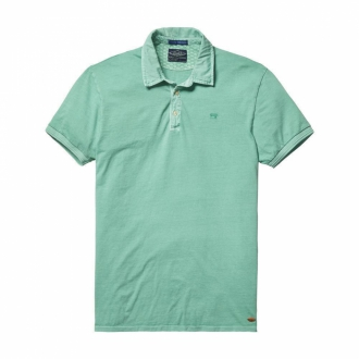 Scotch & Soda Basic Polohemd mit Stickerei mint