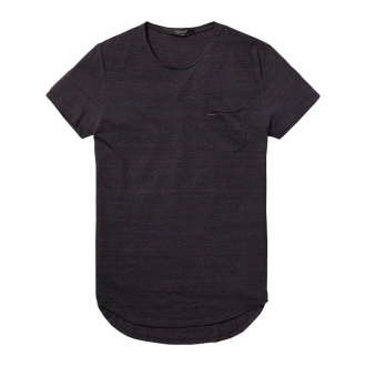 Scotch & Soda Meliertes T-Shirt aubergine