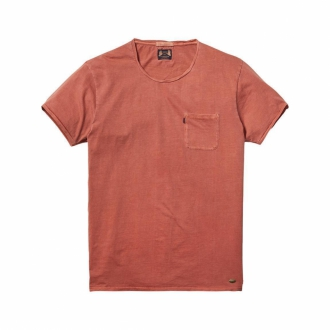 Scotch & Soda T-Shirt mit Garment-dye-Effekt orange