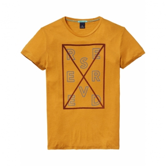 Scotch & Soda Beach T-Shirt saffron