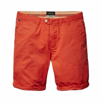 Scotch & Soda Chino-Shorts aus Baumwolle rot