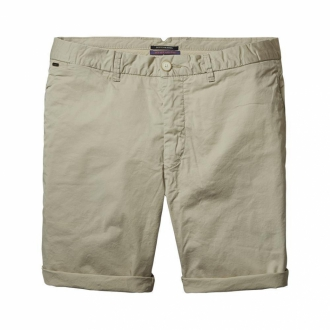 Scotch & Soda Chino-Shorts aus Popelin sand