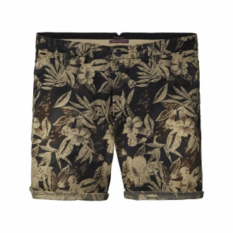 Scotch & Soda Chino-Shorts aus Popelin schwarz/braun