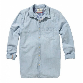 Scotch & Soda Worker Shirt aus Chambray Herren hellblau