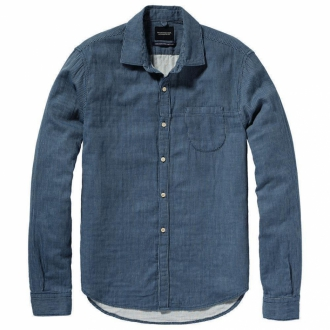 Scotch & Soda Freizeithemd in Denim-Optik blau