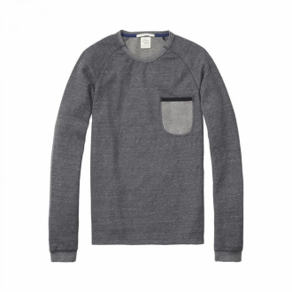 Scotch & Soda Home Alone Longsleeve Shirt grau