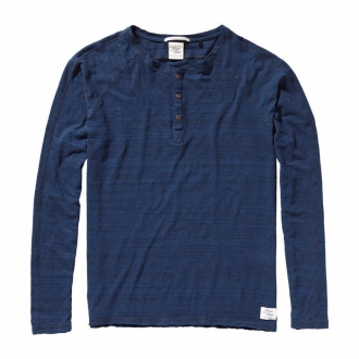 Scotch & Soda Home Alone Shirt mit Knopfleiste blau