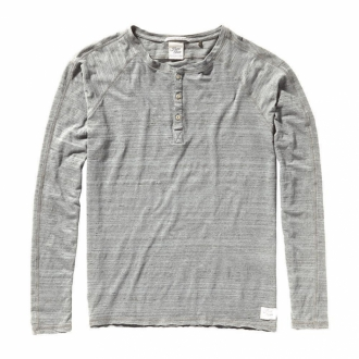 Scotch & Soda Home Alone Shirt mit Knopfleiste grau...