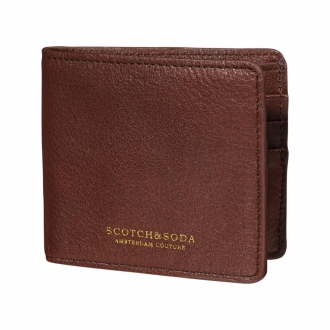 Scotch & Soda Lederportemonnaie braun