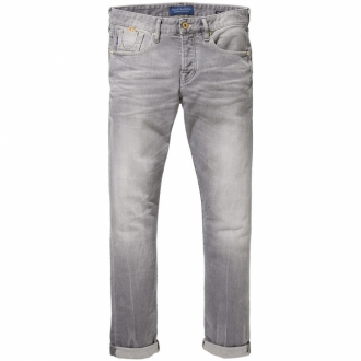 Scotch & Soda Ralston Stone and Sand Jeans grau