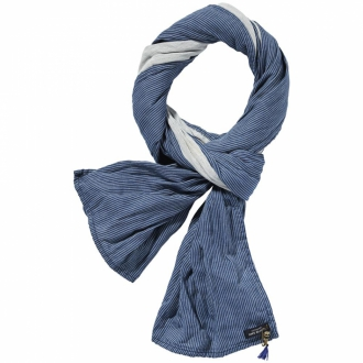 Scotch & Soda Schal in Denim-Optik Herren indigo blau