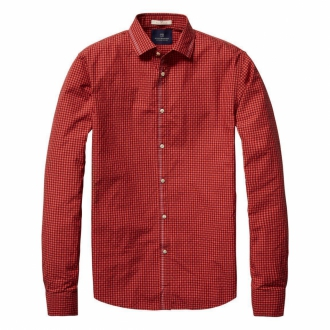 Scotch & Soda Selvedge Shirt Herren rot/schwarz