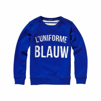Scotch & Soda Uni Blauw Sweater Kinder blau
