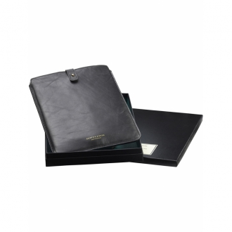 Scotch & Soda iPad case in leather and suede schwarz