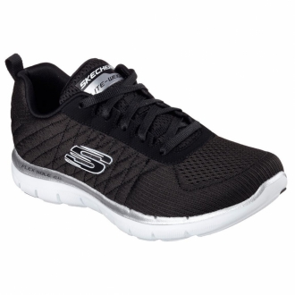 Skechers Flex Appeal 2.0 - Break Free Fitnessschuh Damen schwarz/wei�