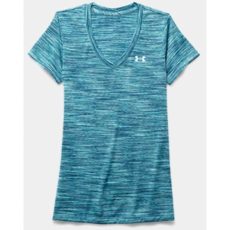 Under Armour Tech Shirt mit V-Ausschnitt Damen...