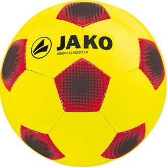 Jako Ball Indoor Classico 3.0 32 Panel Fu�ball 2336 - gelb/rot/schwarz