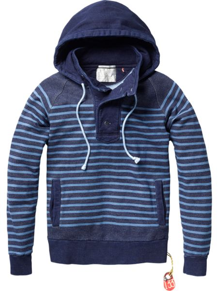 Scotch_&_Soda_Herren_Sweat_Hoodie_Pullover_blau