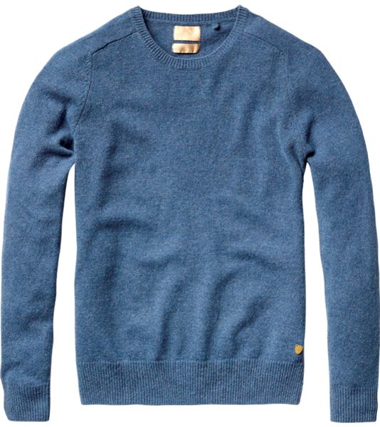 Scotch_&_Soda_Strick_Pullover_Rundhals_blau