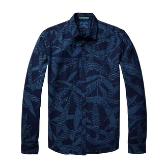 Scotch & Soda Freizeithemd mit Allover Print blau