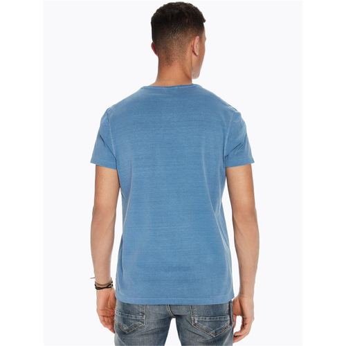 Scotch & Soda T-Shirt mit Brusttasche hellblau