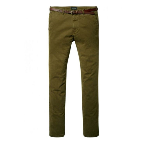 Scotch & Soda Chino Hose Stuart olivgrün