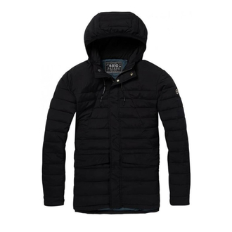 Scotch & Soda Steppjacke mit Kapuze schwarz