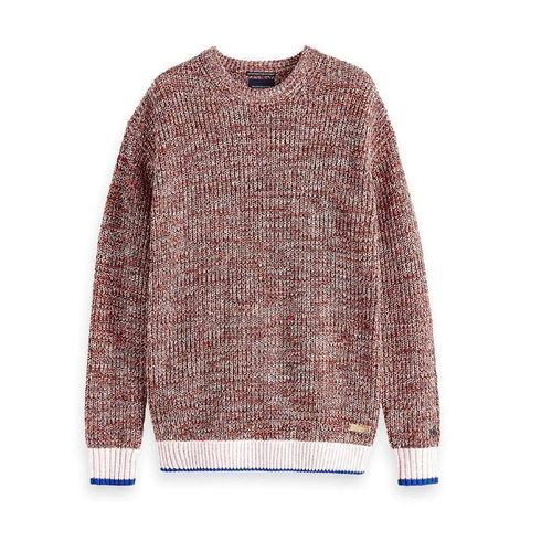 Scotch & Soda Amsterdams Blauw Grobstrickpullover rot