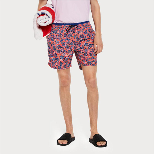 Scotch & Soda Badeshorts mit Allover-Print rot/blau