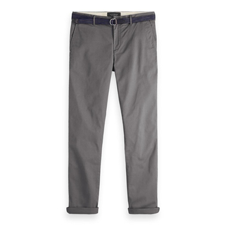 Scotch & Soda Chino Hose Stuart grau