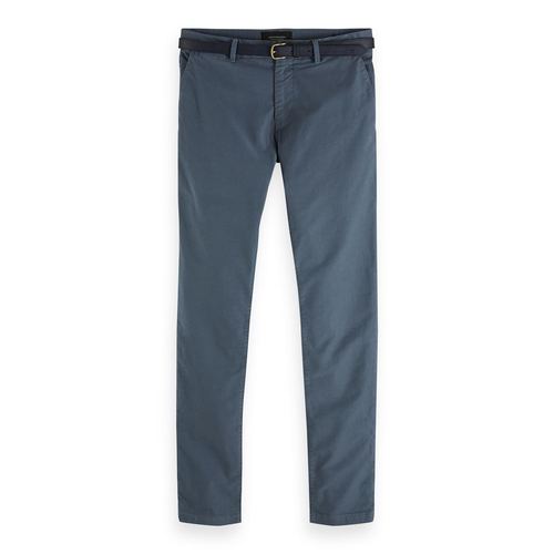 Scotch & Soda Chino Hose Stuart - graublau - Größe 34/34
