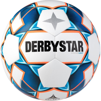 Derbystar Stratos Light Jugend-Trainingsball weiß/blau