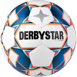 Derbystar Stratos S-Light Jugend-Trainingsball weiß/blau